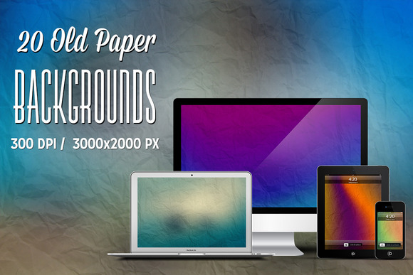 20 Old Paper Backgrounds