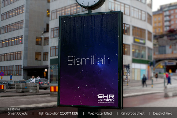 Lamp Post Advertising Mockup