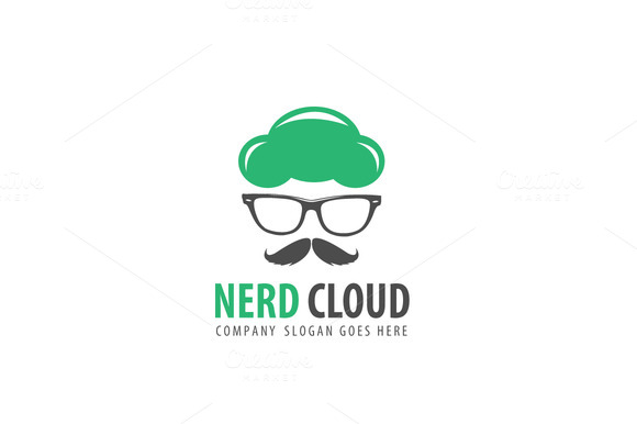 Nerd Cloud Logo Template