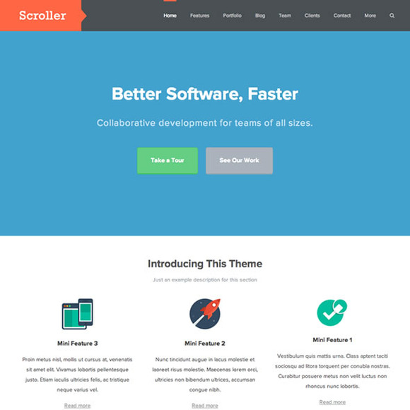 Scroller Responsive OnePage Theme
