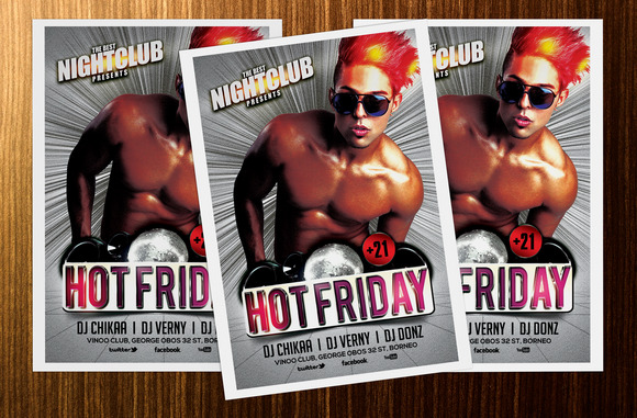Hot Friday Party Flyer