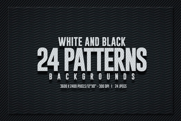 Black White Pattern Backgrounds