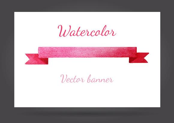 Vector Watercolor Banner