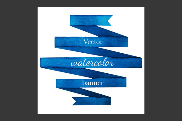 Vector Watercolor Banner