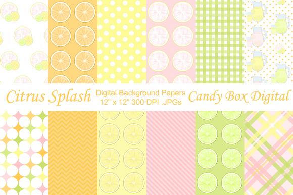 Citrus Splash Background Papers