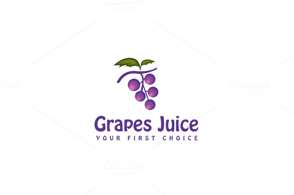 Grapes Juice Logo Template