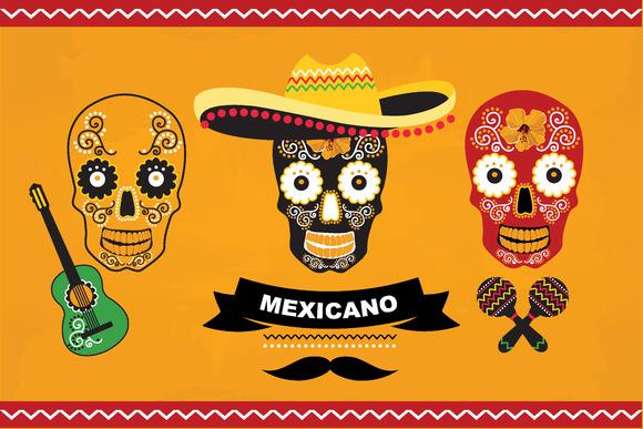 3 Mexican Skulls