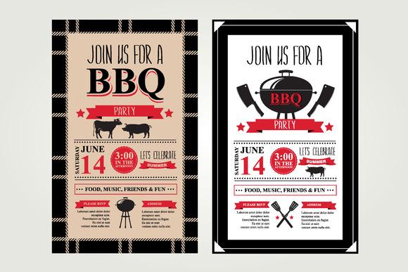 2 Barbecue Invitations