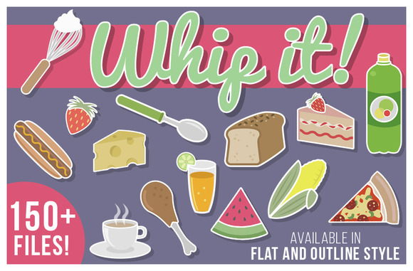 Whip It 150 Yummy Illustrations