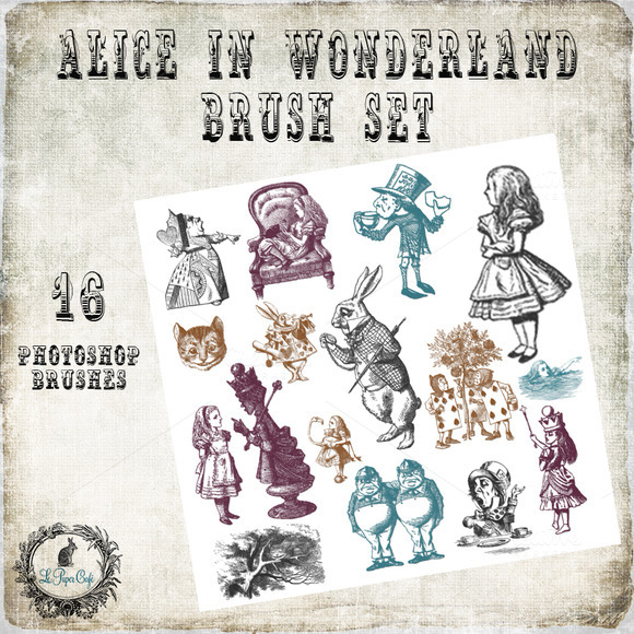 Alice In Wonderland Brush Set
