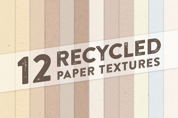 12 Recycled Paper Textures