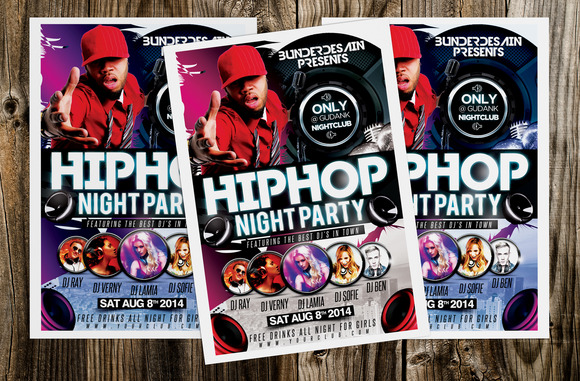 Hiphop Night Party Flyer