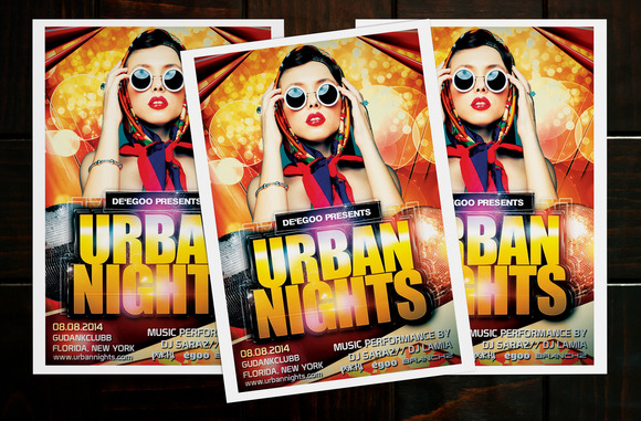 Urban Nights Party Flyer