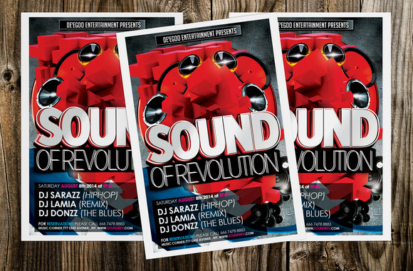 Sound Of Revolution Flyer