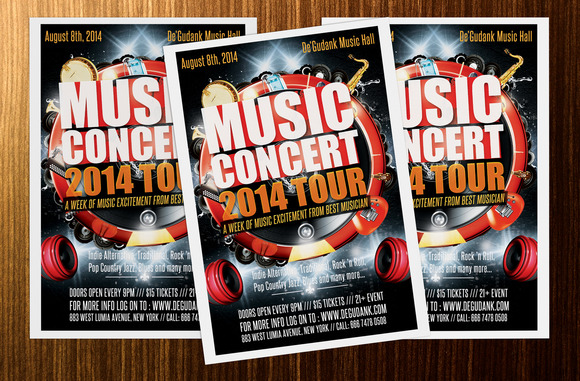 Music Concert Tour 2014 Flyer