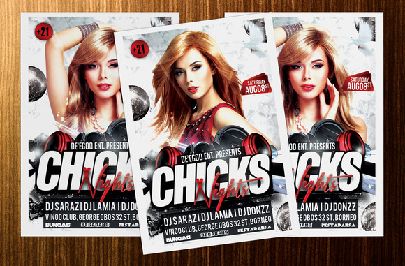Chicks Party Flyer