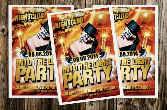 Into The Light Party Flyer