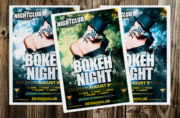 Bokeh Night Party Flyer