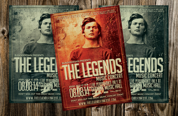 The Legend Concert Music Flyer
