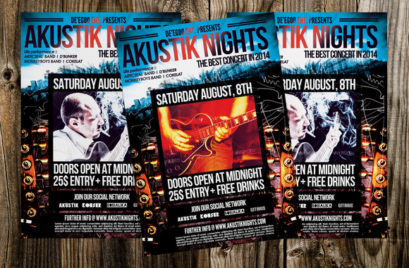 Akustik Nights Concert Flyer