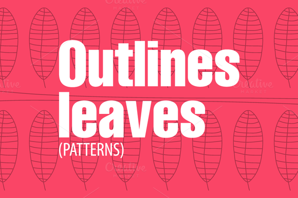 Outlines Leaves-Patterns