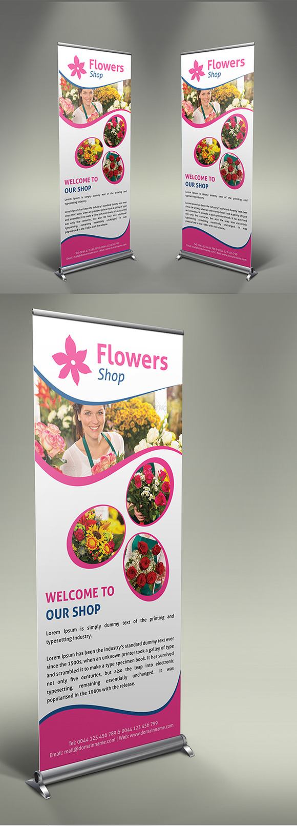 Flower Shop Roll-Up Banner V1