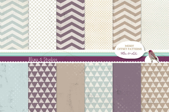 Distressed Digital Graphic Patterns