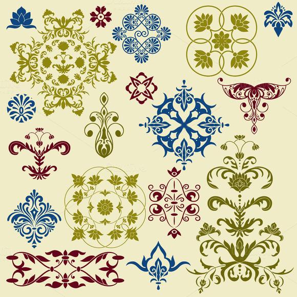Vector Vintage Floral Bright Desig