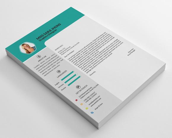 Sara Jhons CV Resume Letterhead