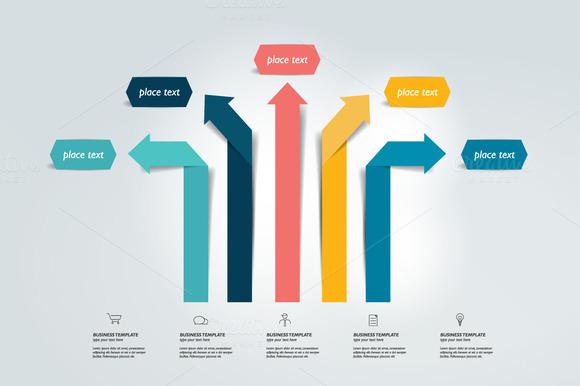 Arrow Infographics Scheme Vector
