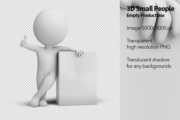 3D Small People Empty Product Box