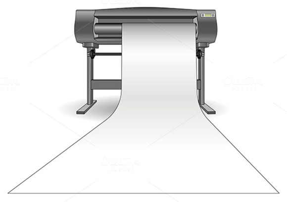 Plotter Inkjet Printer Horizontal