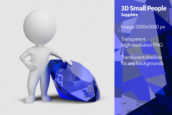 3D Small People Sapphire
