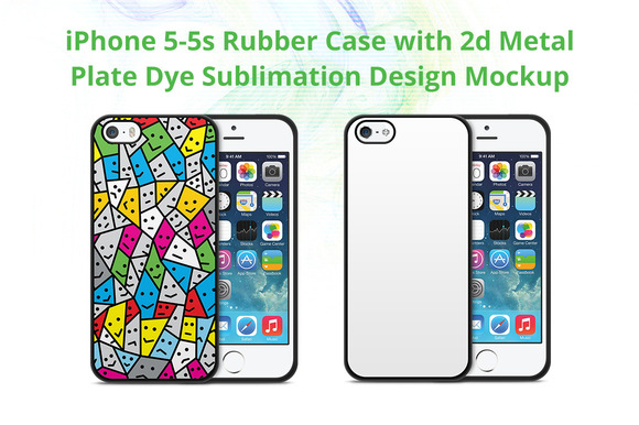 IPhone 5-5s 2d Rubber Case Mock-up