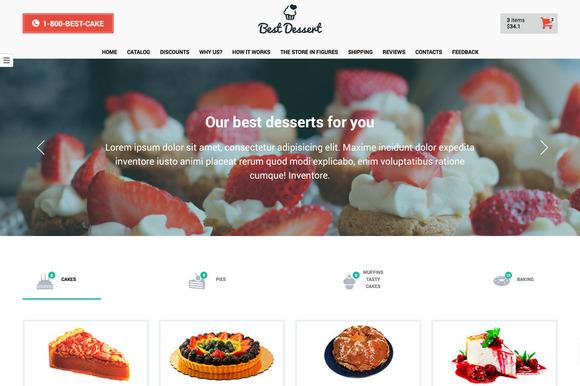 Best Dessert Landing Page Template