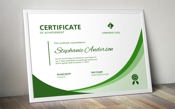 Modern Ms Word Certificate