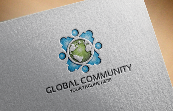 Global Community Logo Template