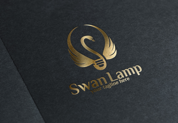 Swan Lamp Logo Template