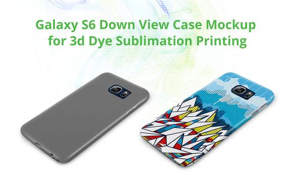 Galaxy S6 3D Case Down Mock-up