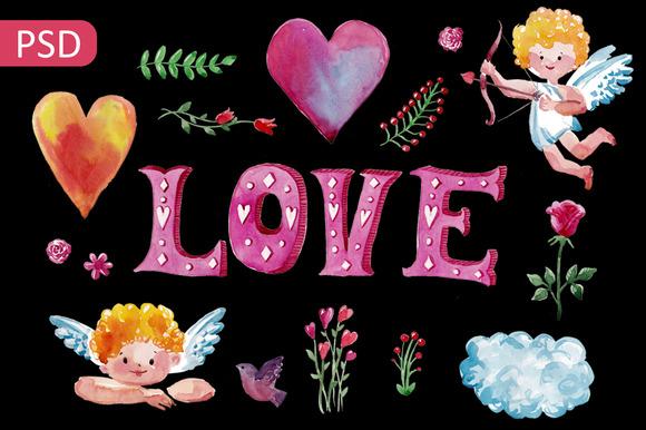 Valentine's Day Watercolor Set
