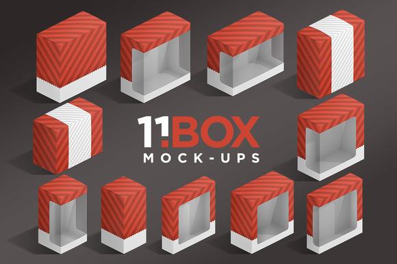 11BOX Isometric Package Mockups