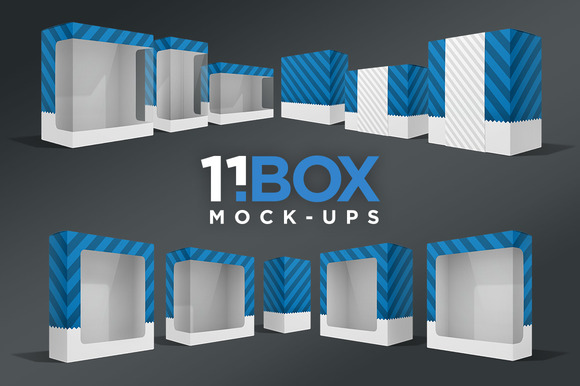 11BOX Perspective Package Mockups