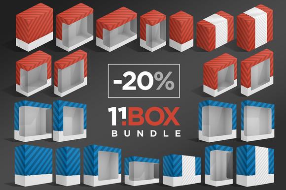 11BOX Package Mockups Bundle