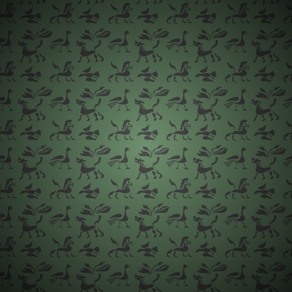 Seamless Pattern Of Ancient Animals