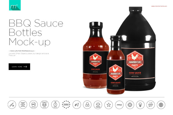 bbq sauce label template - company pylon sign mock up download