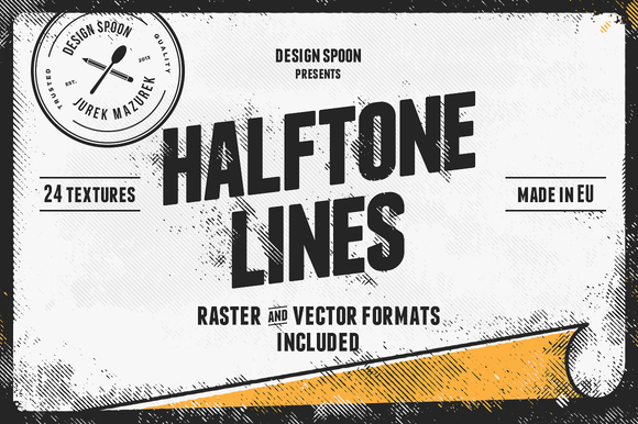 Halftone Lines Texture Pack