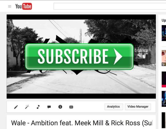YouTube Green THUG Subscribe Button