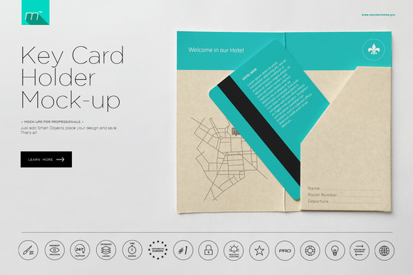Hotel Key Card Holder Mock-up