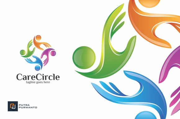 Care Circle Logo Template