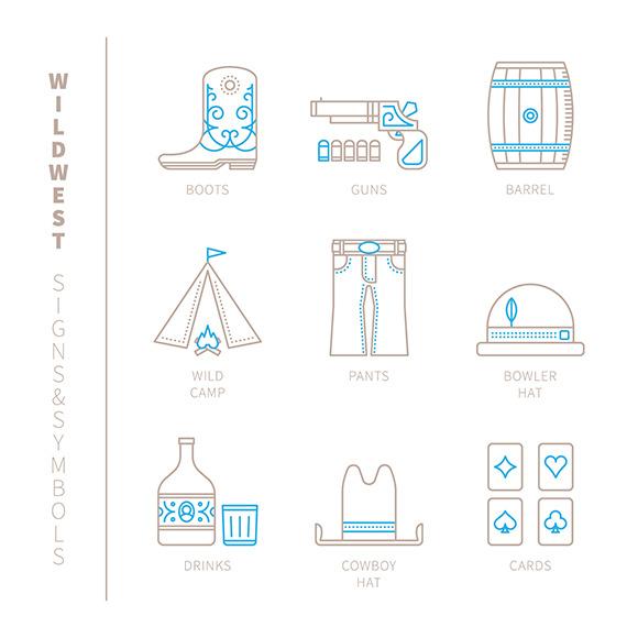 Wildwest Signs Symbols